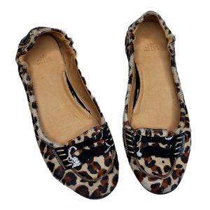 Peter Millar | Leopard Calf Hair Slip On Flats 7.5